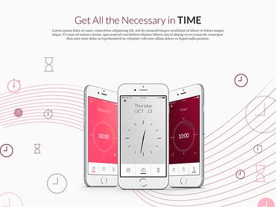 Timesaw-2 ux ui modern minimalistic timer chronometer stopwatch alarm clock alarm customize mobile app jigsaw weather time watch
