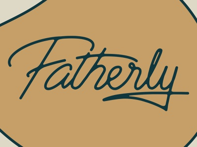 Fatherly Logotype design brand father dads sports lettering handlettering handlettered logotype logo letters illustration type