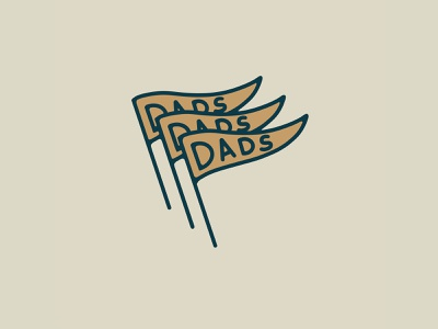 Dads Flags dads banner flag brand letters illustration badge icon