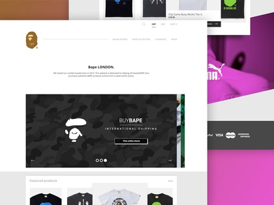 Bape (Landing Page) fashion ui design web design ui bape