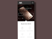 Luxury brand mobile site concept