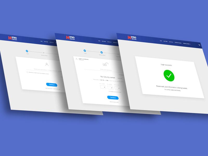 Metro Bank Login keynote login screens metro bank ui design animation motion graphics ui design ui ux login banking