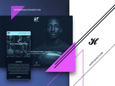 Client work / HF Personal Trainer wordpress design wordpress personal training design patterns design ui user interface design ui design
