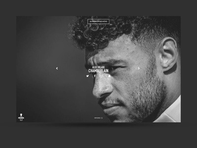 Alex Oxlade-Chamberlain single-page website one-page website animation jquery nike arsenal fc premier league football alex oxlade-chamberlain