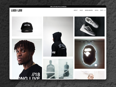 Long Live-Studios black and white zaha minimal brand clothing