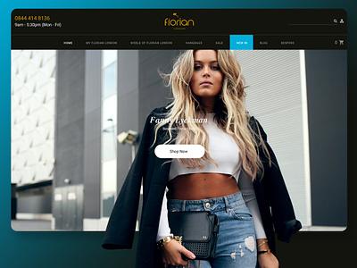 UI concept for Florian London blue and black flat ui flat design hand bags webdesign fashion ui design