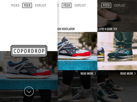 Sneaker news/curation app