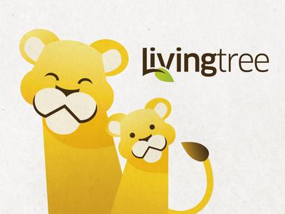 LivingTree Branding logo branding tree lion illustration kids family