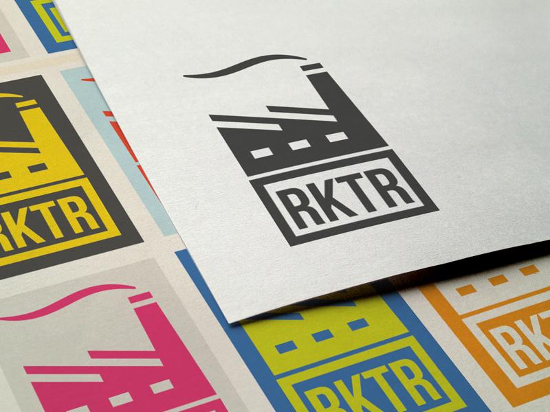 Rktr logo branding reactor power plant