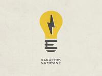 Electrik Company Logo Retro
