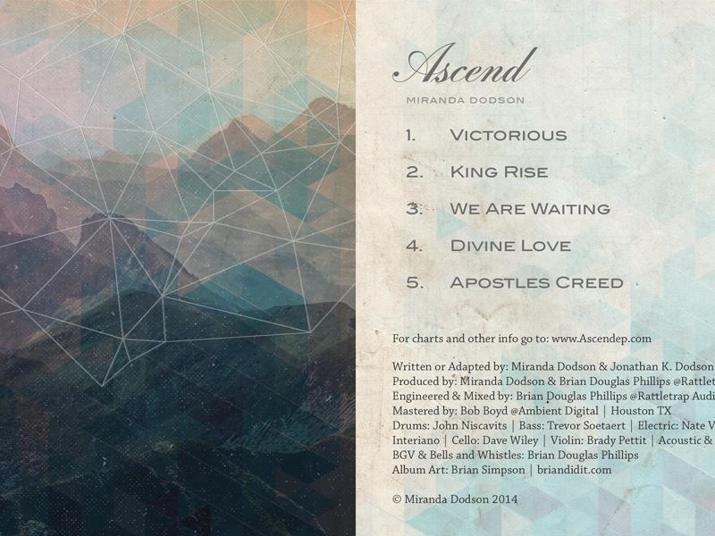 Ascend EP Art cd album cover music musician geometric