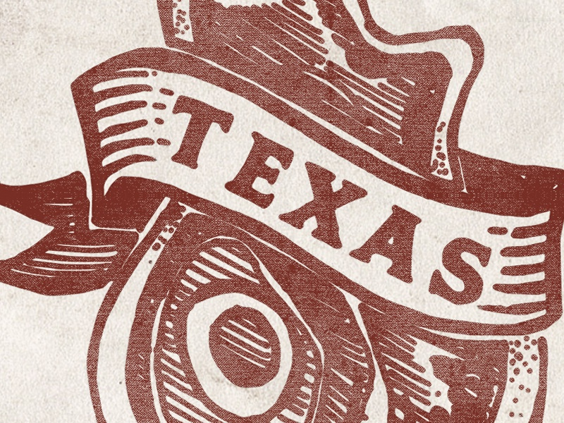 Moniker BBQ bbq print logo texas banner texture