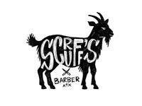 Scruff's barbershop logo