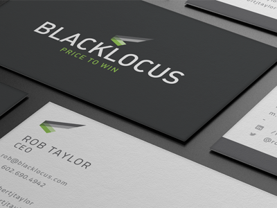 Blacklocus Business card logo branding business card