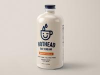 Hothead Oat Cream packaging bottle smile logo branding coffee milk