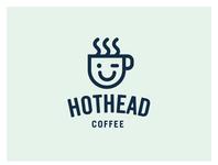 Hothead Coffee logo coffee cup coffee logo branding coffee