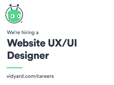 We're hiring a UX/UI Designer! webdesign uxui jobs