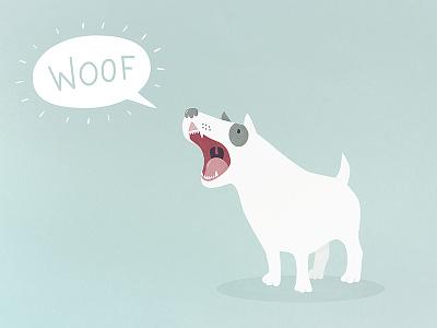 Loud dog illustration digital dog woof bark