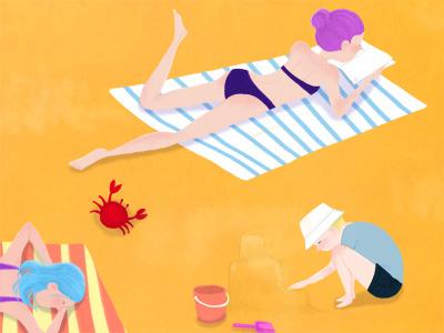 Vacation illustration digital drawing illustration friday