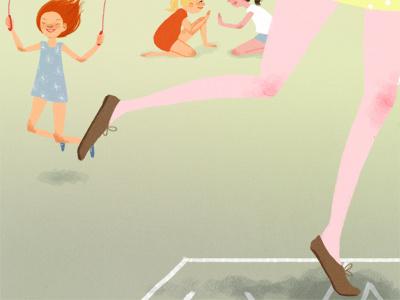 Recess illustration digital drawing