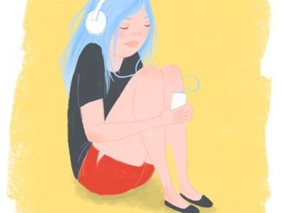 Illustration Friday - Lonely illustration digital drawing illustration friday