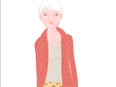 Another girl illustration digital drawing