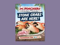 Pinchers Stone Crab Signage