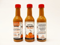 One Pepper Hot Sauce Label Design