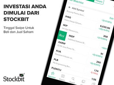 Stockbit App Store Banner advertise website app ux ui banner stocks