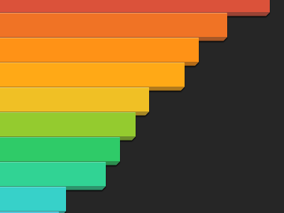 Bar Chart bar dashboard rainbow bar chart info graphic