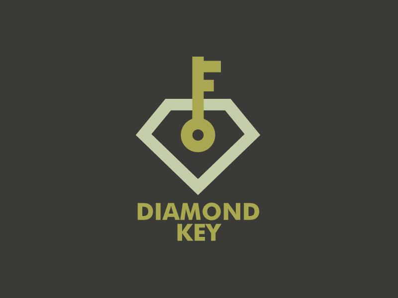 Diamond key logo template 01