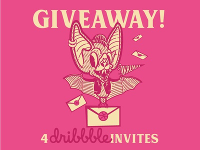 KreMal Dribbble Invites logo for sale dribbble invites giveaway invite invitation invites custom logo logo template logo