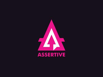 Assertive Logo Template design graphic vector branding a letter up arrow triangle assertive