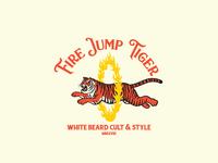 Fire Jump Tiger Logo Template