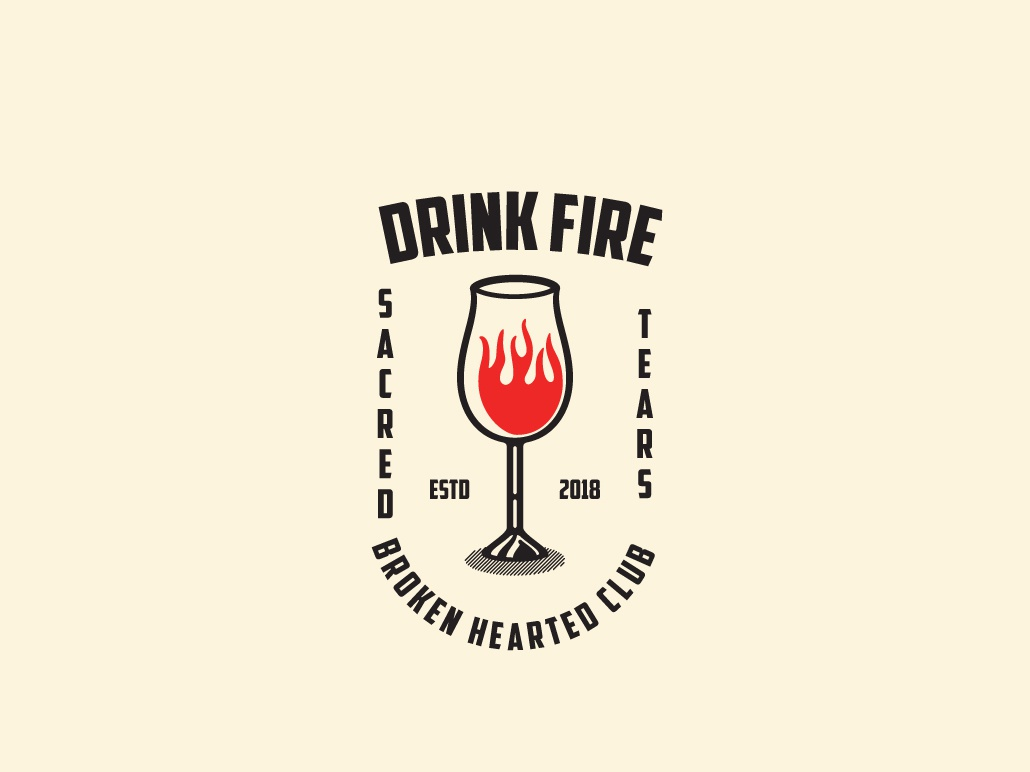 Drink Fire Logo Template by KreasiMalam on Dribbble