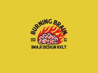 Burning Brain Logo Template