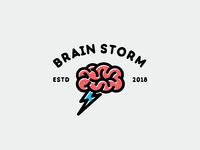 Brain Storm Logo Template