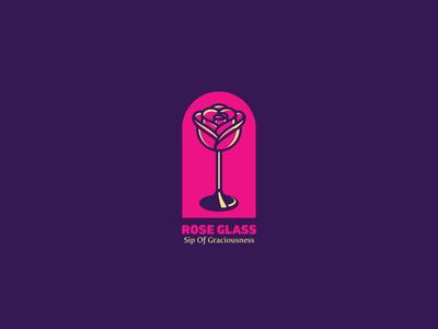Rose Glass Logo Template