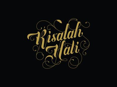 Risalah Hati Logotype logotype lettering decorative lettering illustration typography logo vector branding