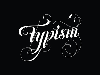 Typism 4 Submission decorative lettering lettering logotype typography logo vintage vector branding
