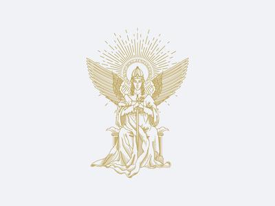 Kremal - Night Empress Illustration wine label label design logo design victorian woodcut engraving illustration vintage vector branding