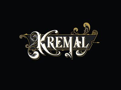 Kremal Logotype wine label design label design victorian type logotype design logotype logo lettering calligraphy typography vintage vector branding