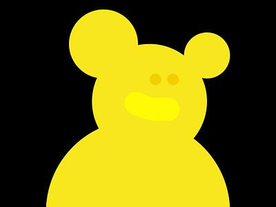 Simple yellow figure design vector illustration