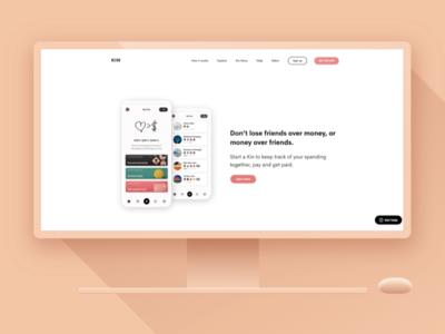 Kin + Paste simplistic fintech flat design web kin paste app paste