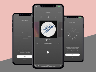 Urbanears App UX app iphone design ux spotify grey flat android ios iot connected speakers sound music urbanears