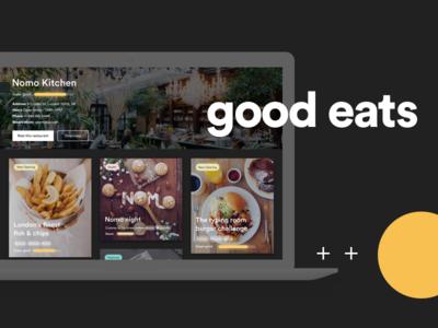 City Bites dark mode design world web food and beverage discover explore travel responsive website food eat