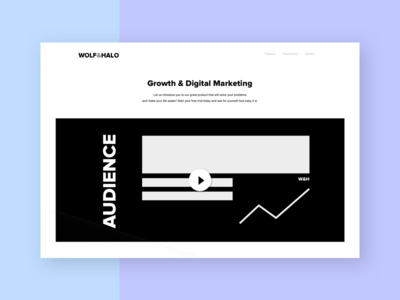 Wolf and Halo marketing campaign marketing agency content design growth hacking ci brand flat responsive website web digital marketing growth