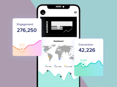 W&H Growth Dashboard report performance marketing social analytics stats dashboard website flat app web growth hacking growth