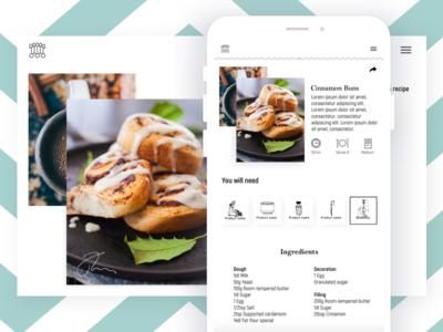 Food! shop e-commerce commerce hardware food app recipes recipe ux ui app website foodie food