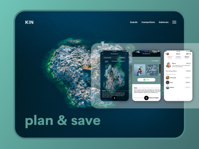 Plan and Save boards android ios save invest money financial app financial finance fintech design app photography drone